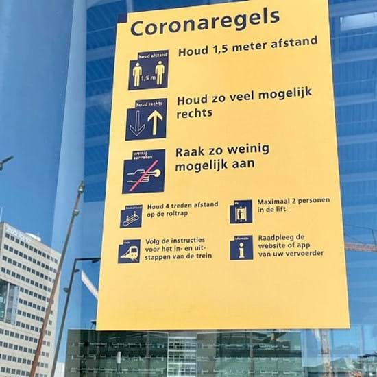 Coronaregels Op Station
