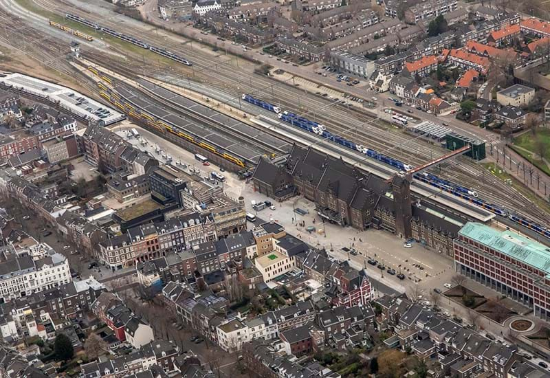 Luchtfoto Stationsomgeving Maastricht Januari 2019